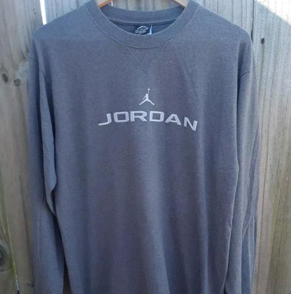 0b057a504b65 Jordan Other - Air Jordan Shirt Size Medium Cool Gray Long Sleeve